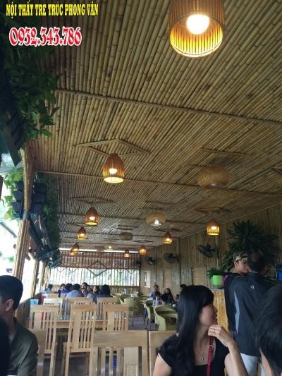 Trang trí ốp trúc nhà hàng Cầu Đậu Hà Nội