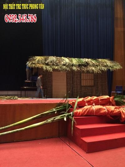 Trang trí sự kiện nhà lá tại hội nghị quốc gia Hà Nội