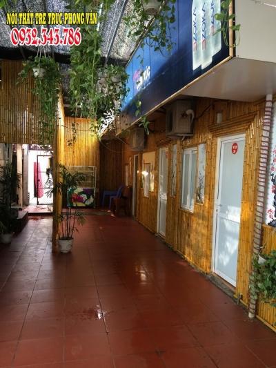 Nội thất tre trúc phong vân trang trí nhà hàng Kim Đồng