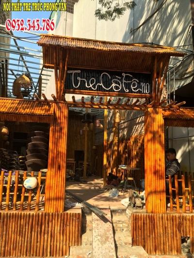 Trúc trang trí quán cafe Đền Lừ Hoàng Mai