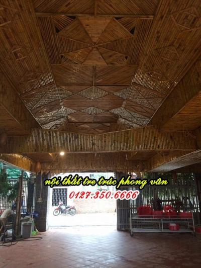 Ốp trúc trang trí nhà hàng Vĩnh Phúc