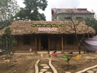 Nhà tre mái lá homestay tại Ninh Bình
