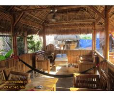 Thiết kế thi công nhà tre mái lá cho resort