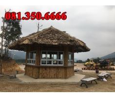 nhà tre mái lá cọ tại khu du lịch tâm linh Tây Yên Tử